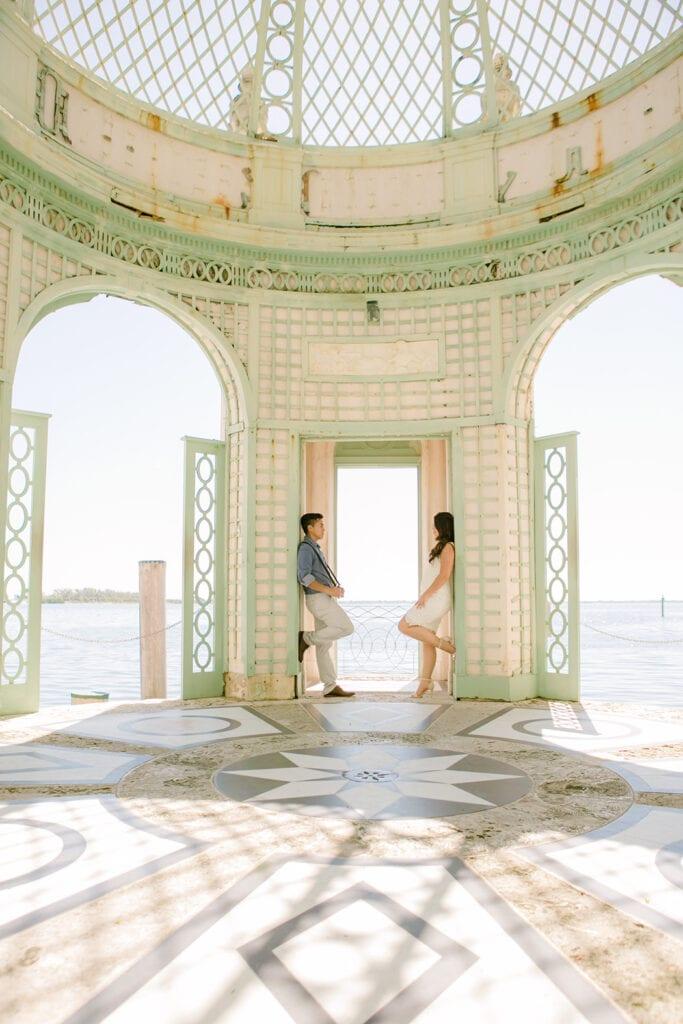 Vizcaya Museum & Gardens, Miami - South Florida engagement photographer