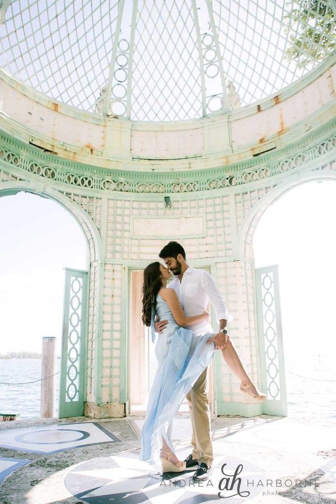 couples dancing photoshoot, Vizcaya, Miami
