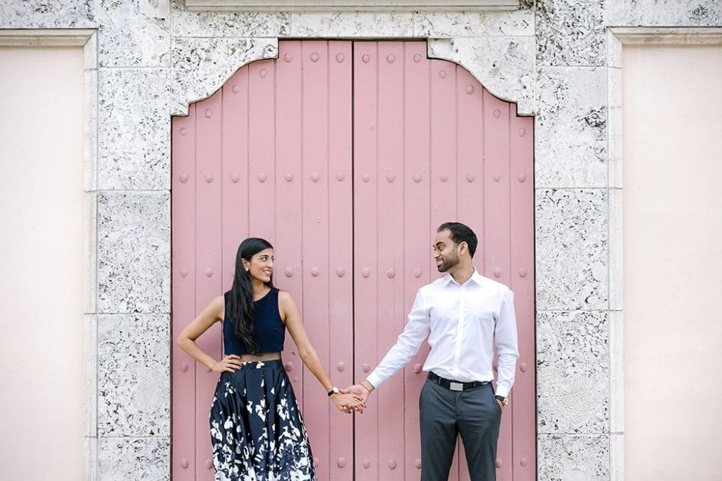 las olas boulevard engagement photography, fort lauderdale