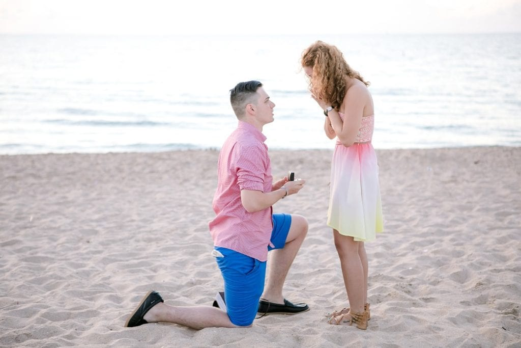 beach proposal photoshoot