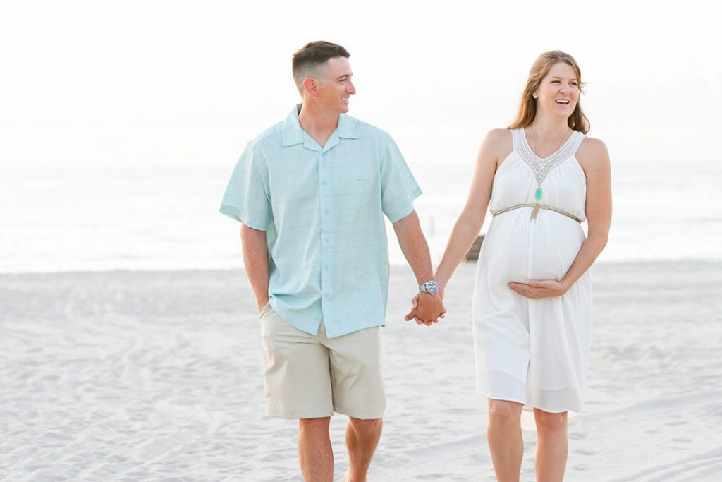 maternity photoshoot on fort lauderdale beach