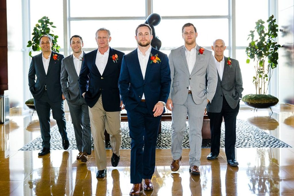 groomsmen at jewish wedding ceremony south florida