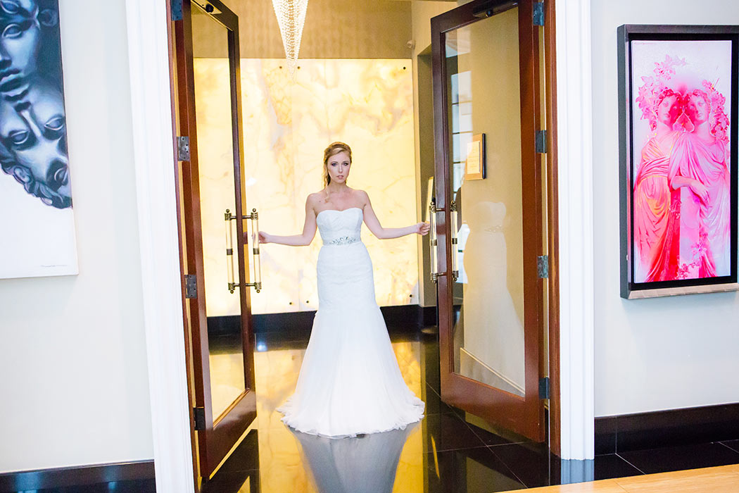 first look unique wedding ideas | unique first look | bride opening door during first look | fort lauderdale wedding photographer