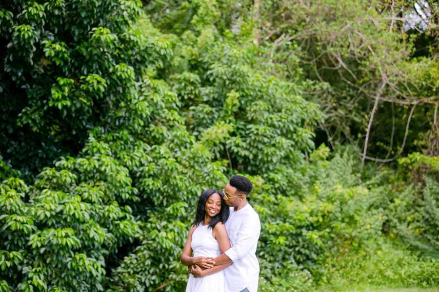 romantic engagement photoshoot at tree tops park | fort lauderdale engagement photographer