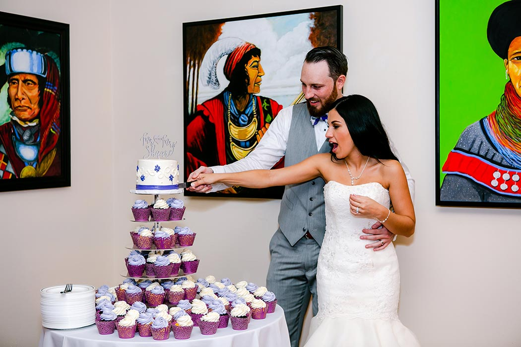 bride and groom cut the cake | fort lauderdale wedding