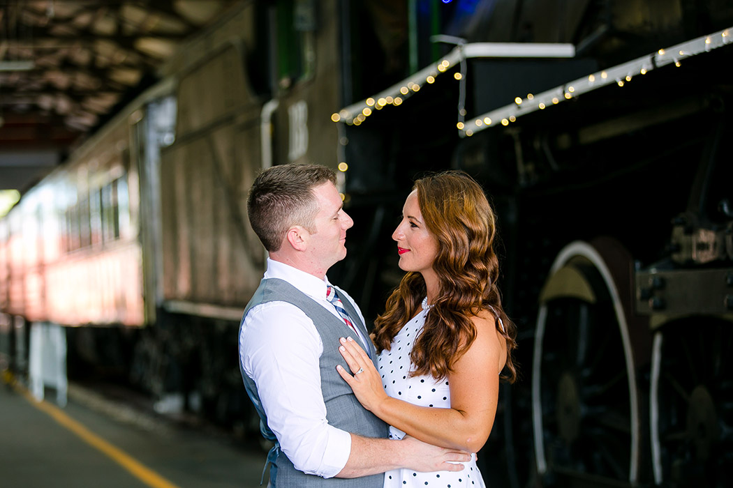 posing for engagement photography session | vintage engagement