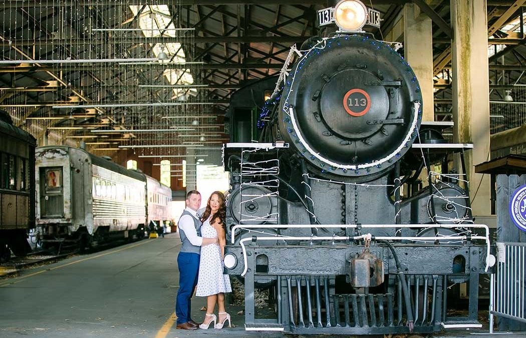 Vintage Engagement Photoshoot | Gold Coast Railroad Museum, Miami
