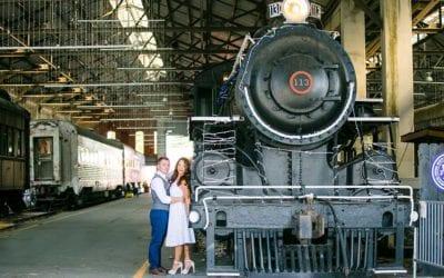 Vintage Engagement Photoshoot | Gold Coast Railroad Museum, Miami
