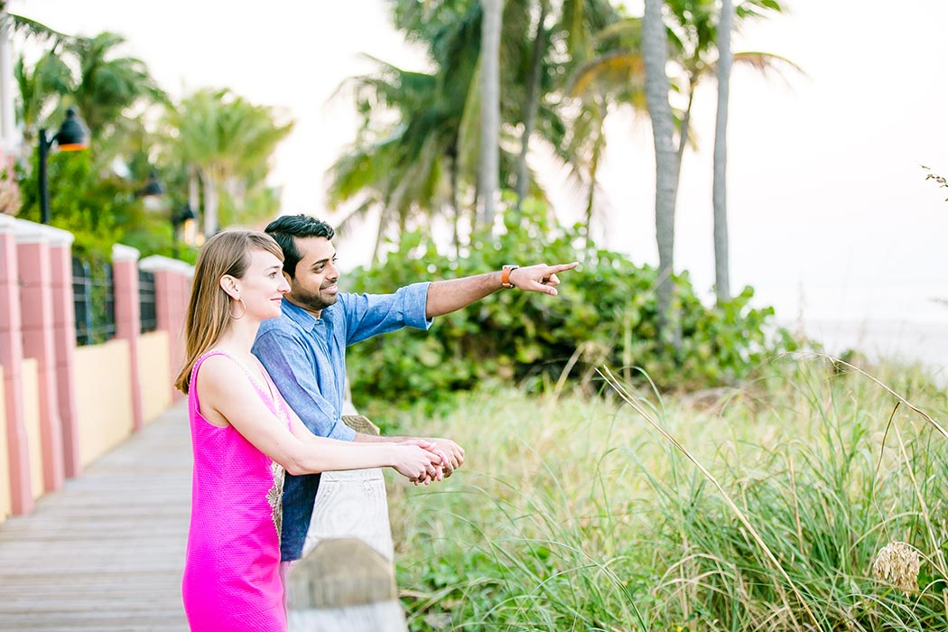 beach engagement session | fort lauderdale beach engagement photography