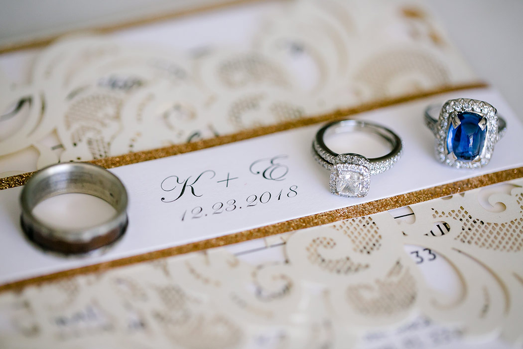 wedding photography details of antique jewelry and wedding stationery