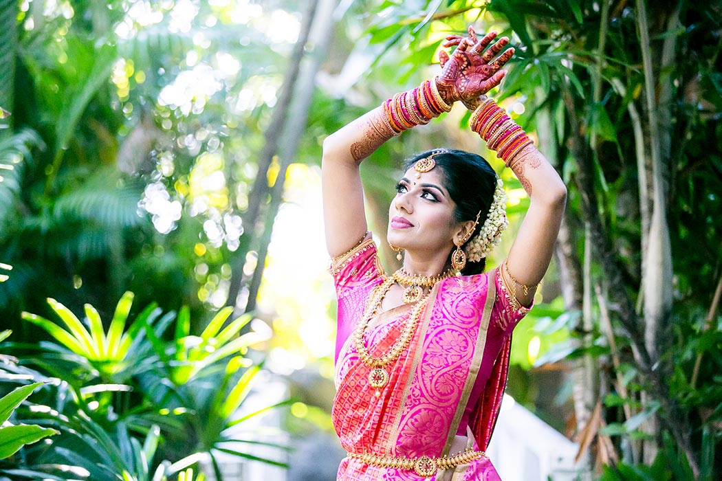 indian bride captured in unique wedding pose