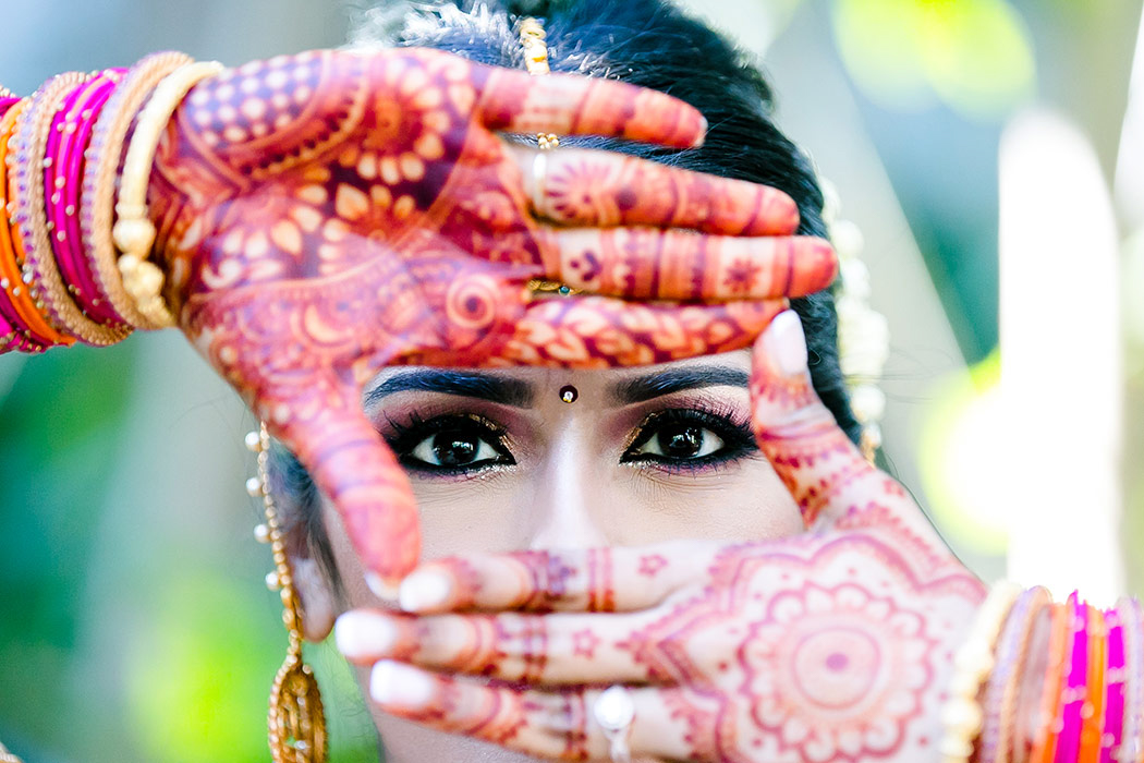 unique indian bridal portrait | fun portrait of indian bride