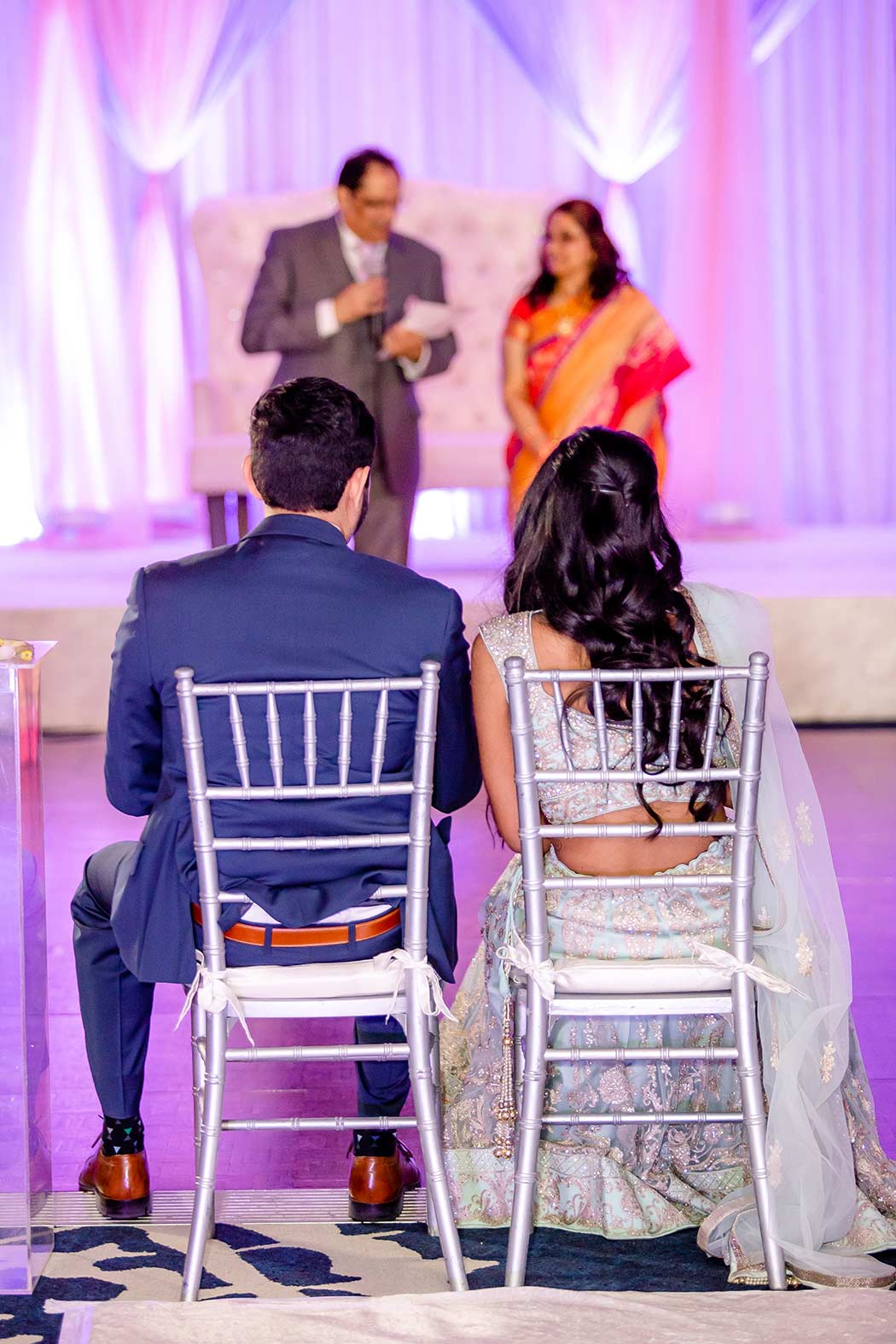photographs taken during reception speeches
