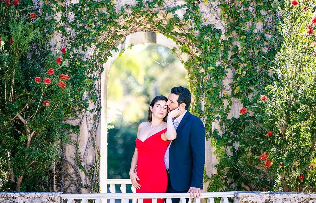 Elegant Engagement Photoshoot | Vizcaya Museum + Gardens, Miami