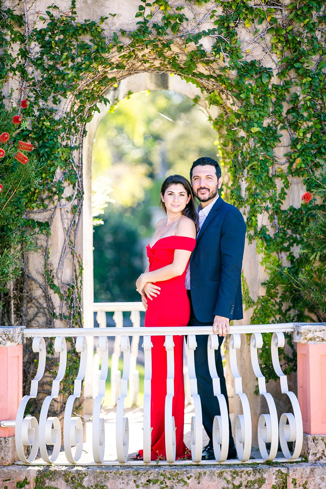 vizcaya museum and gardens engagement | engagement photographer south florida
