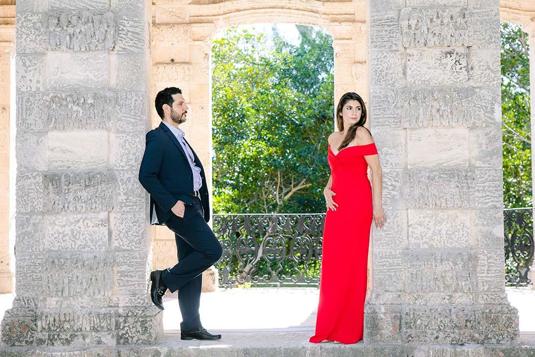 unique engagement photography pose | vizcaya engagement photographer | fort lauderdale engagement photographer