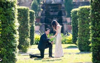 Surprise Proposal at Vizcaya Museum | Engagement Photoshoot