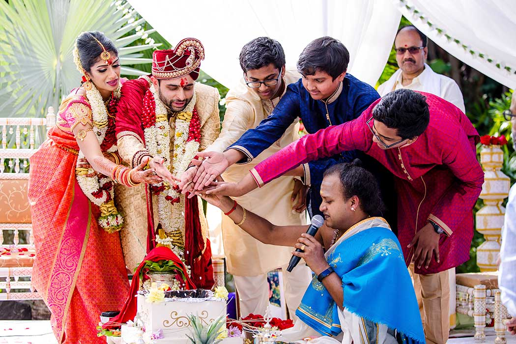 indian bride and groom get married in fort lauderdale bahia mar