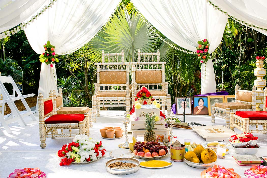 indian wedding mandap photograph in fort lauderdale