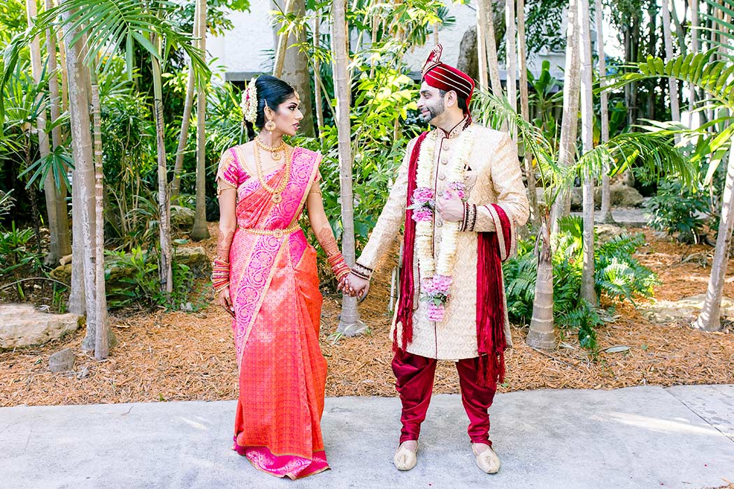 indian wedding bridal pictures | bahia mar fort lauderdale wedding
