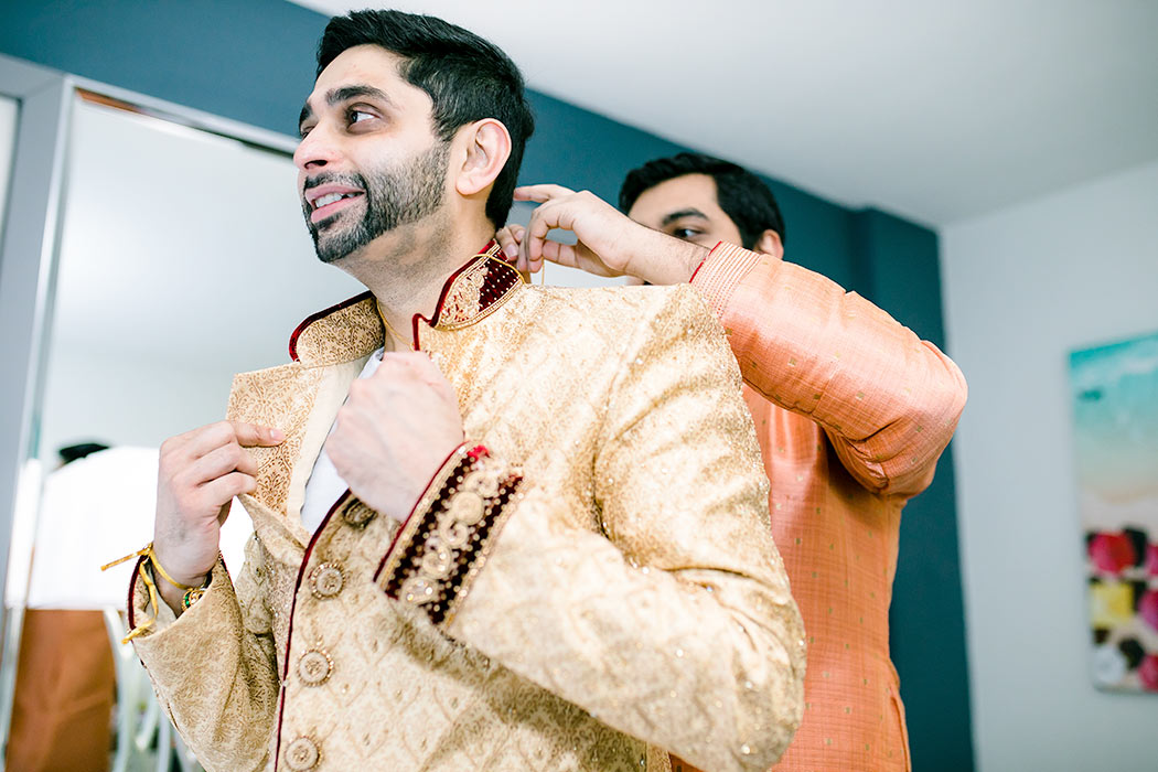 indian groom getting ready pictures | fort lauderdale indian wedding photographer