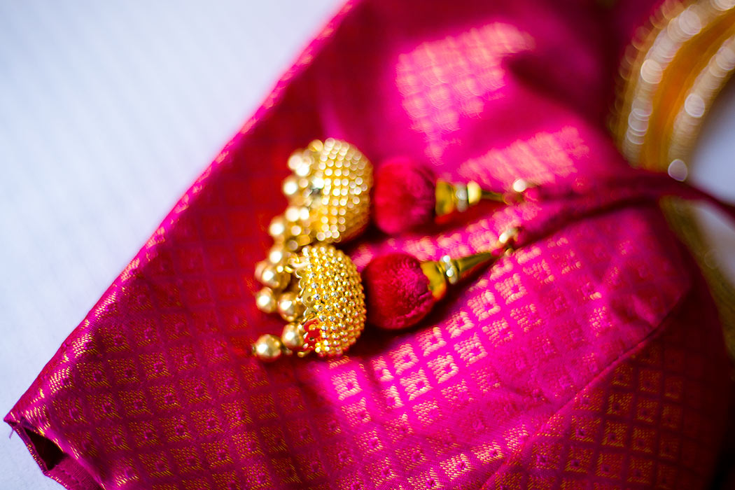 pink and gold silk indian wedding saree | indian wedding sari