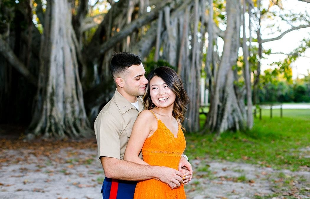 Military Engagement Session | Hugh Taylor Birch Park Fort Lauderdale