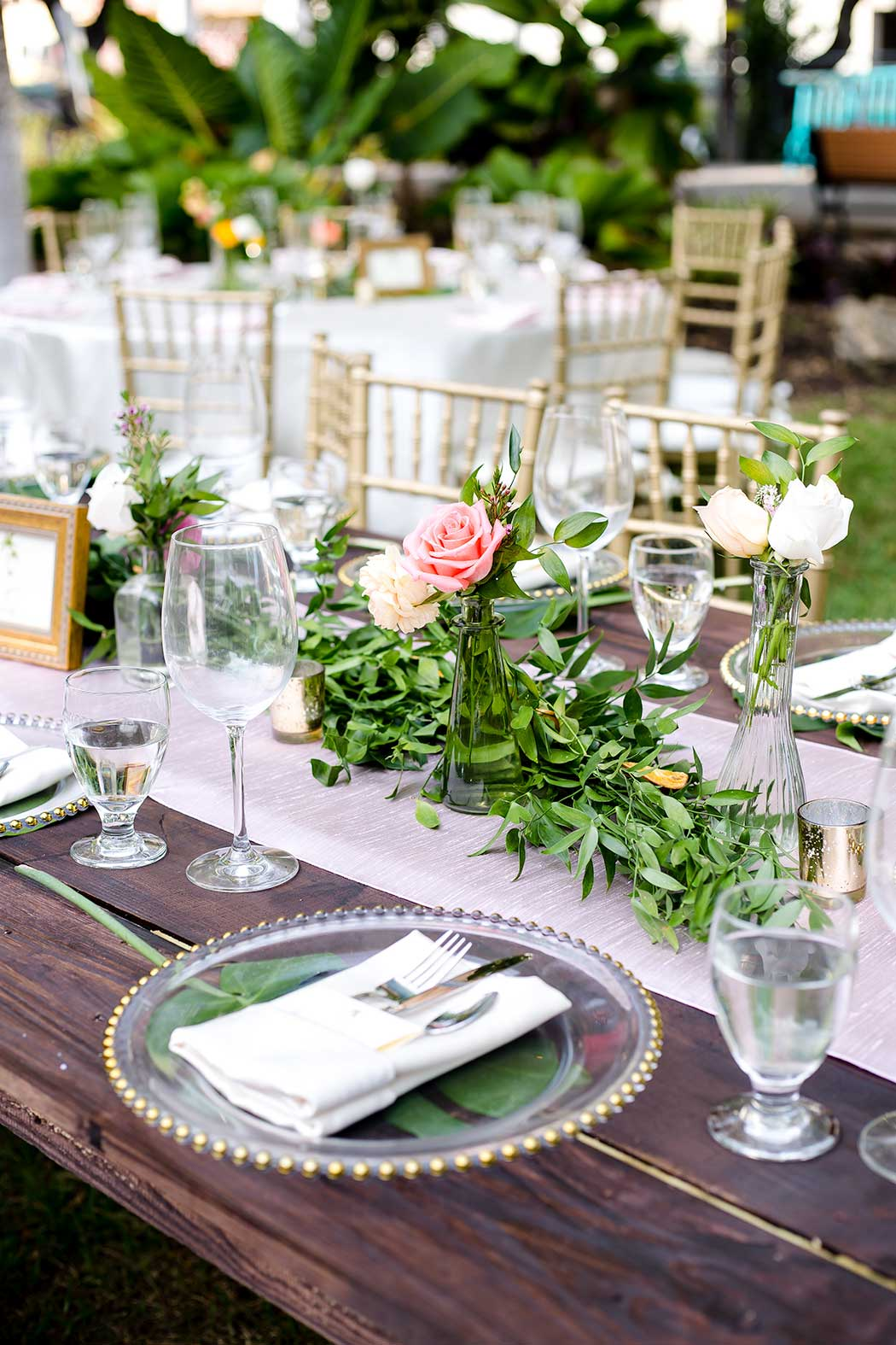 contemporary and modern wedding reception table