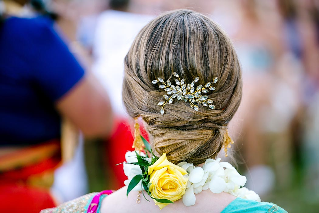 unique wedding hair style | wedding details