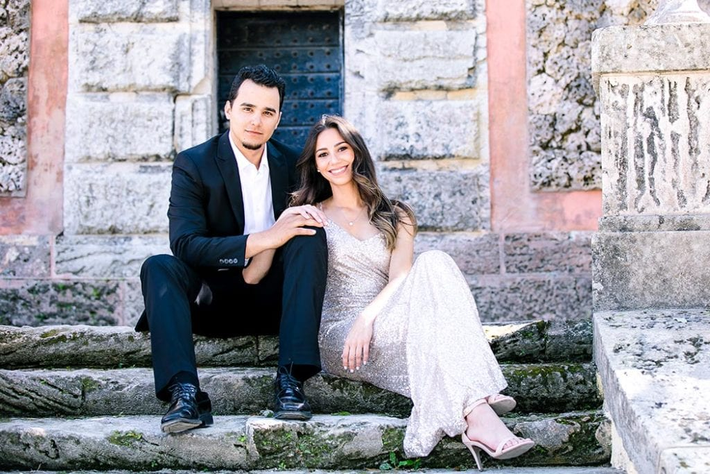 vizcaya engagement photoshoot for gallery