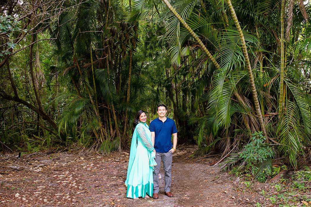 morikami engagement photography | morikami museum and japanese gardens engagement session | fort lauderdale engagement photographer | indian engagement photographer fort lauderdale