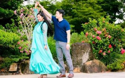 Engagement Photoshoot, Morikami Museum + Japanese Gardens