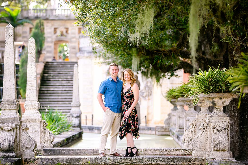 gorgeous engagement portraits at vizcaya museum | vizcaya museum proposal photography | engagement photography vizcaya