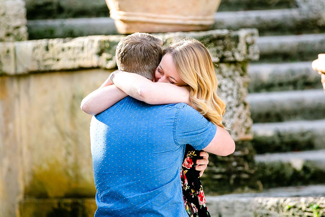 gorgeous surprise proposal photoshoot at vizcaya museum | vizcaya museum wedding proposal | engagement photography vizcaya