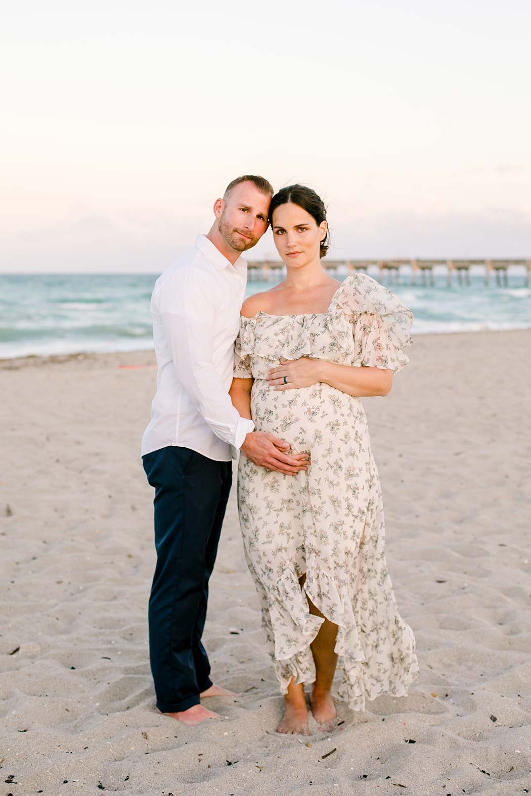 maternity poses for expectant mothers | fort lauderdale maternity photoshoot | maternity pose on beach | maternity beach photography | fort lauderdale beach maternity photographer