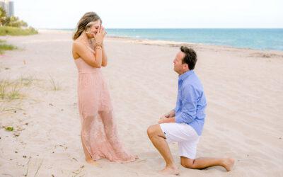 Surprise Beach Proposal | Engagement Fort Lauderdale