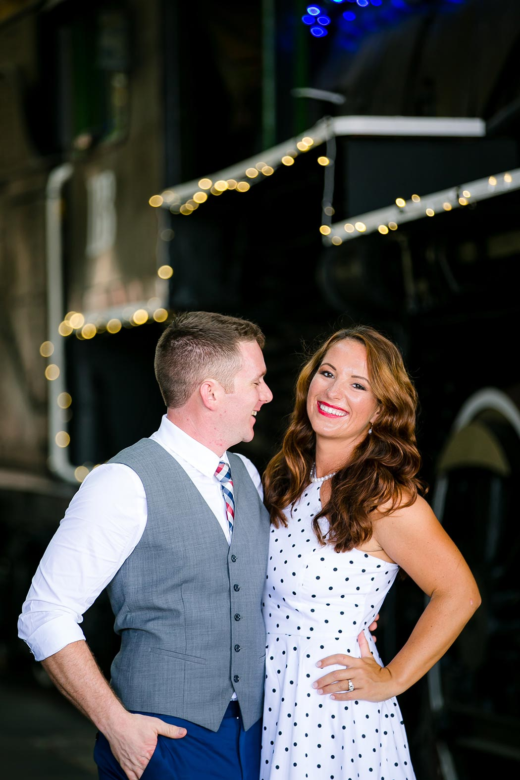 vintage inspired engagement photoshoot at miami's gold coast railroad museum