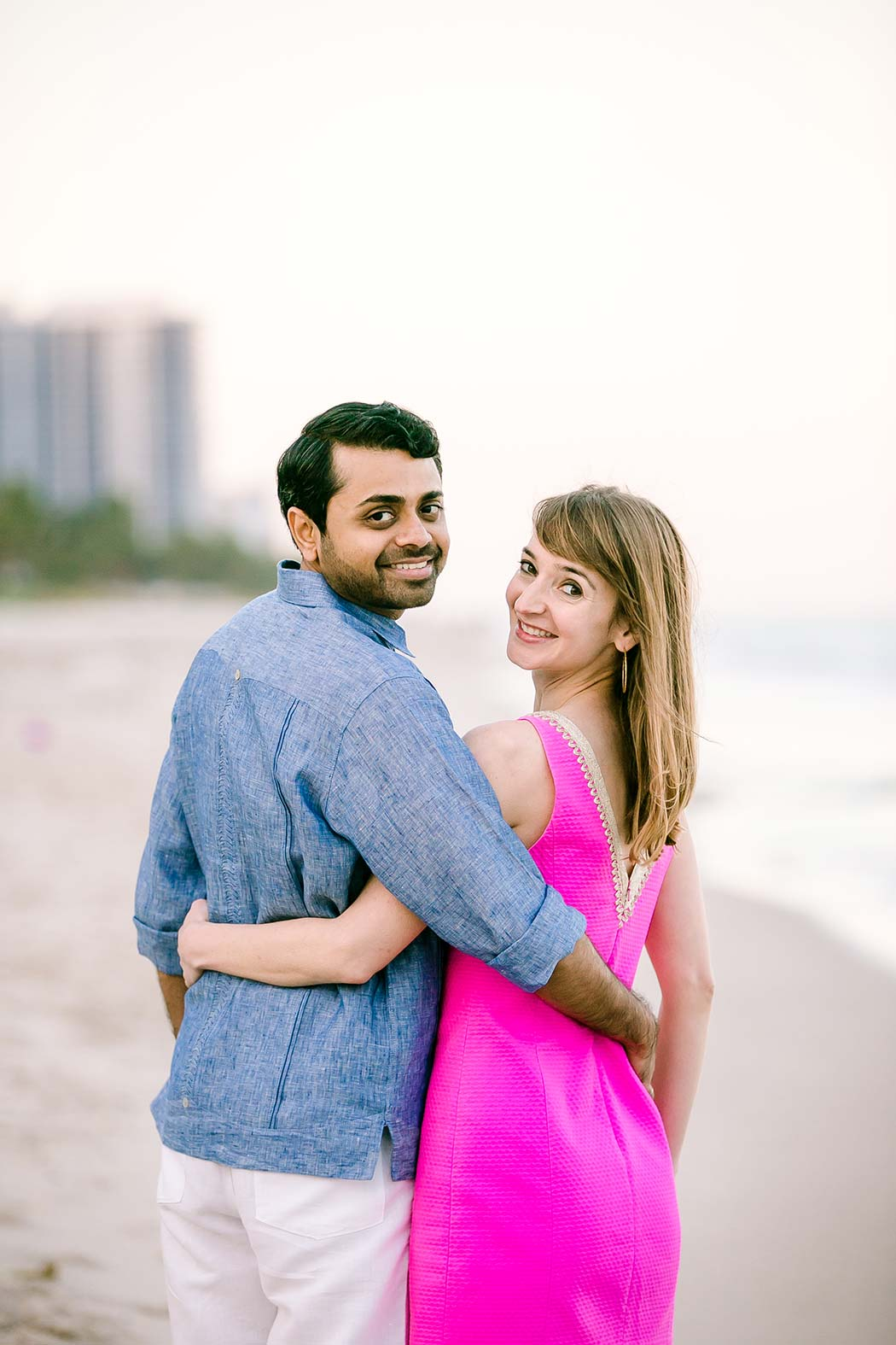 beautiful engagement poses for engagement photography on fort lauderdale beach